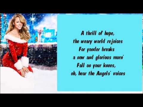 Mariah Carey - O Holy Night (Live from WPC in South Central Los Angeles) + Lyrics   O holy night ...