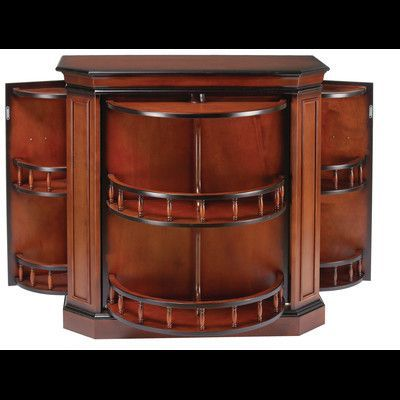 Darby Home Co Westra Bar Cabinet With Spindle Game Room Bar