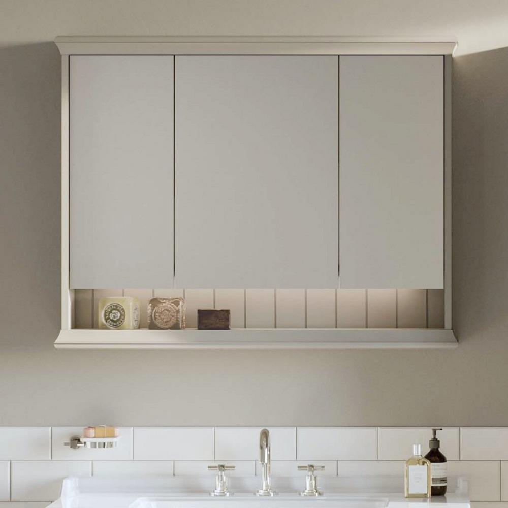Valarte 3 Door Bathroom Mirror Cabinet