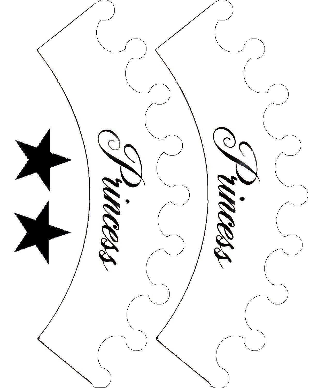 printable princess crown template clipart best pirotines
