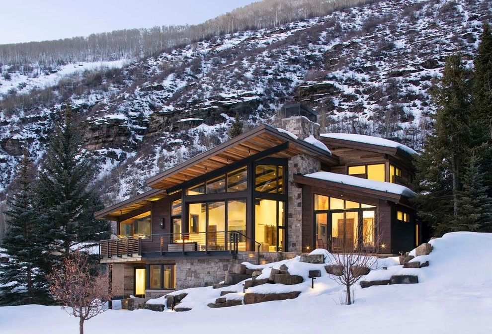 Small Contemporary Mountain Home Plans: Luxury Mountain Homes Colorado Exterior Rustic With