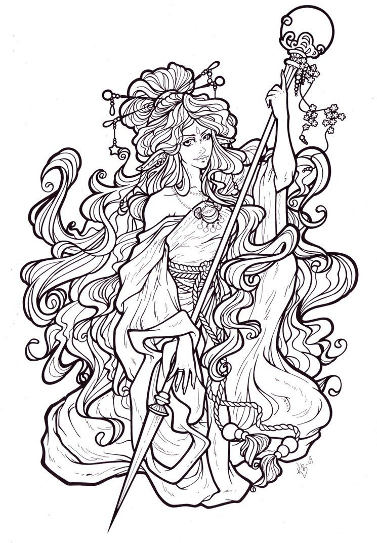 ad luna lineart by blueundine on deviantart princess coloring pagesadult - Line Art Coloring Pages