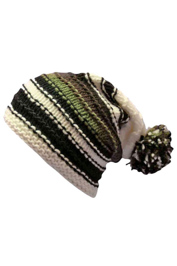 Multicolor Striped Crochet Knit Beanie Cap Hat | Beanies, Slouch ...