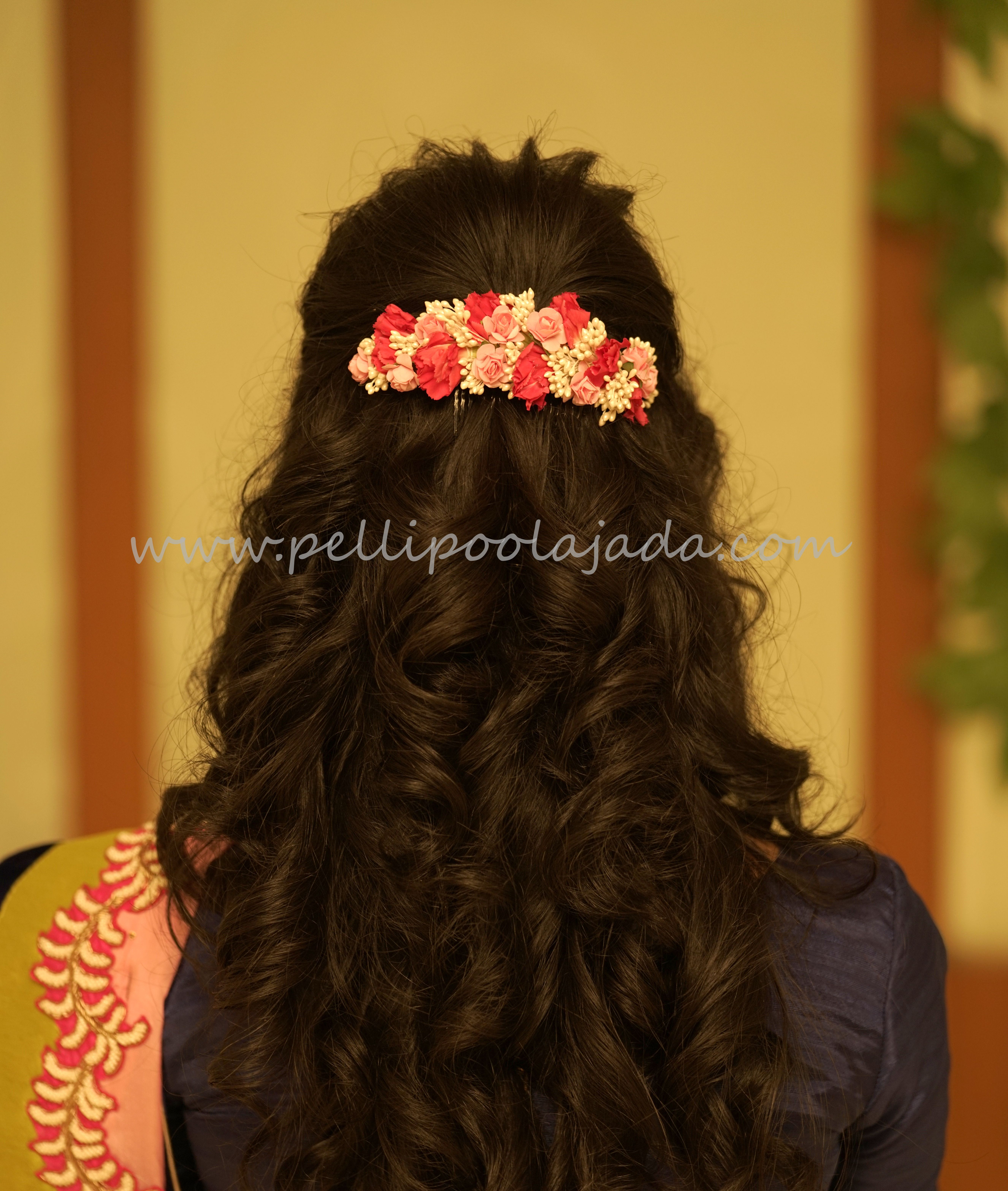 Designer Venis, fresh flower venis, floral veni  Indian bridal