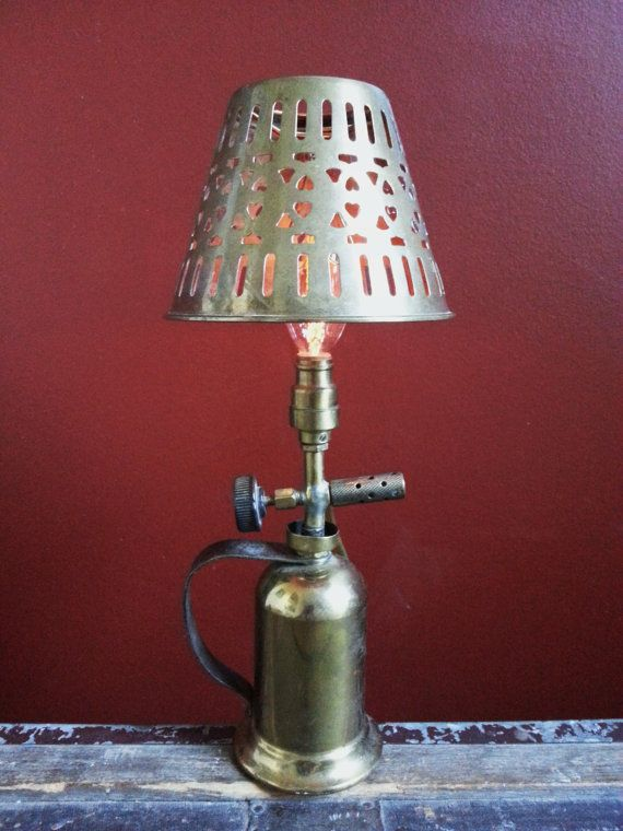 One Of A Kind Vintage Blow Torch Upcycled By UrsMineNours On Etsy