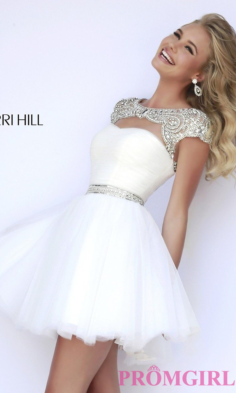 Short high neck sherri hill prom dress pinterest dresses