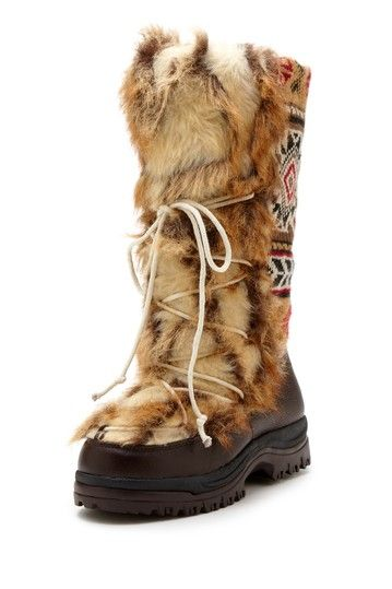 sesu southwest fairisle tall snow boot