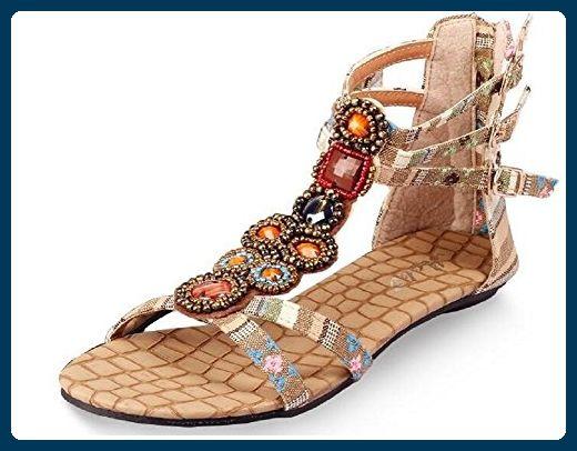 Lazutom , Damen Sandalen, beige - beige - Größe: 40 EU