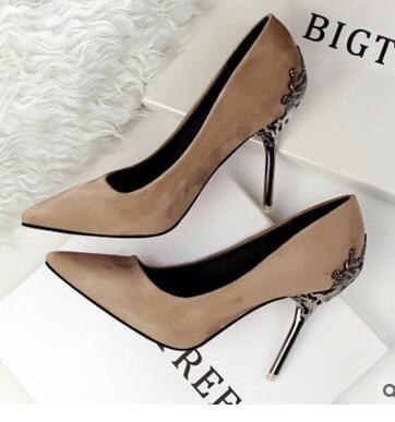829aa2d8fb69 Fashion Sexy Women Pumps Metal Scarpe Donna Thin High Heel Shoes ...