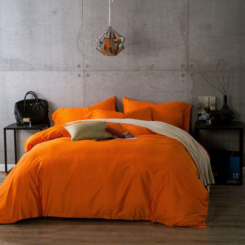 Bright Orange Color Bedding Duvet Cover Set The Hiest
