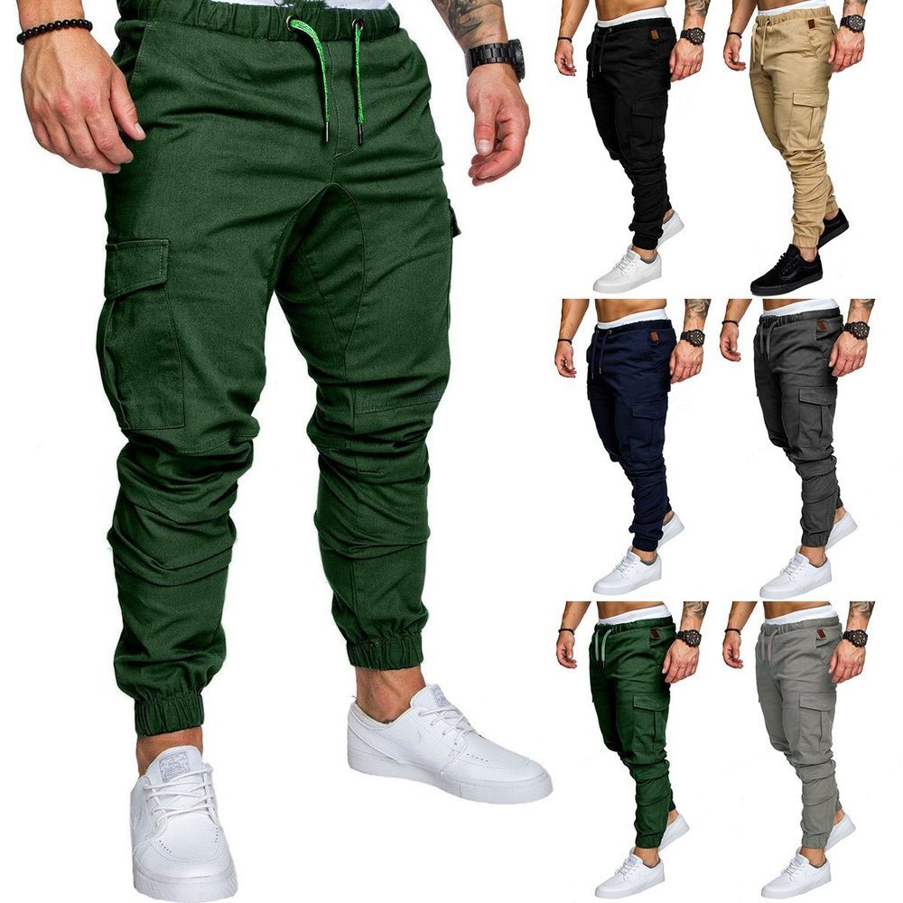Men S Sport Pants Long Trousers Tracksuit Fitness Workout Joggers - Fitness Duiven