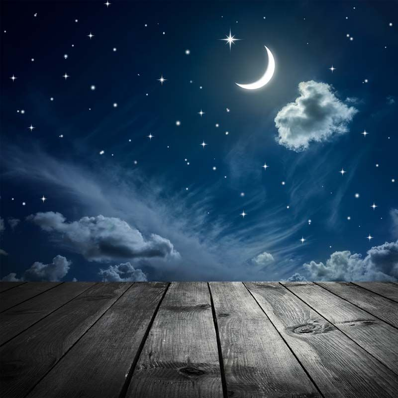Открытка со звездами и луной, для гравировки характеристика