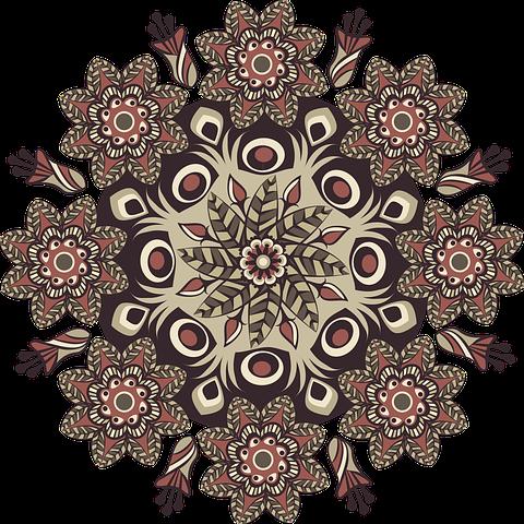 Free Image On Pixabay Mandala Pattern Round Brown Mandalas Blumenmuster Kostenlose Bilder