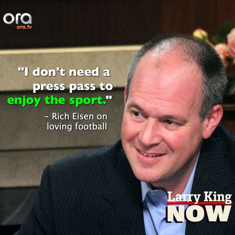 Rich Eisen just loves football LarryKingNow Espn, Nfl