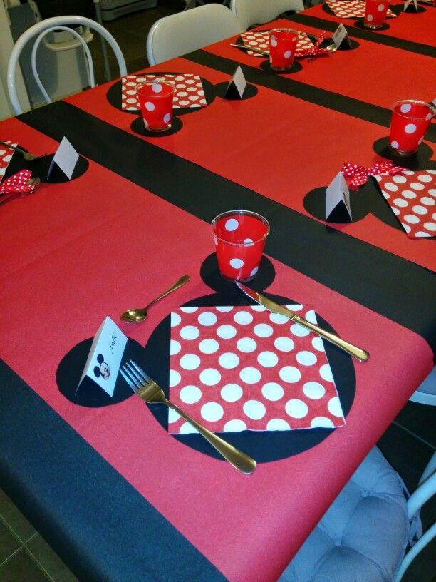 D 233 Co Table Minnie Anniversaire 3 Ans Th 232 Me Minnie En