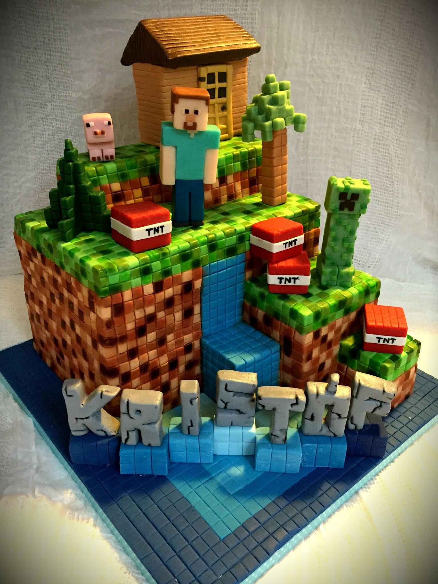 Minecraft Cake Minecraft Party Ideas In 2019 Minecraft