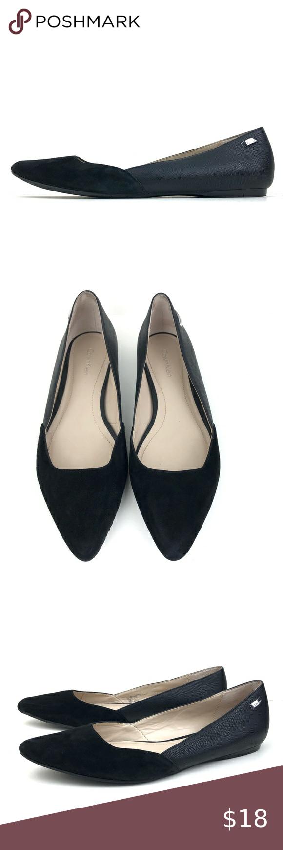 Calvin Klein Hyacinth Pointed Toe Flats