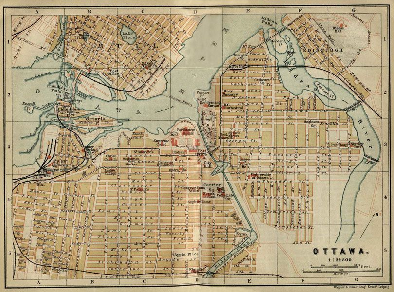 Map Of Downtown Ottawa Canada Map of downtown Ottawa/Hull | Vintage map, Ottawa canada, Ottawa map