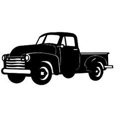 Old Truck Silhouette Bing Images With Images Silhouette