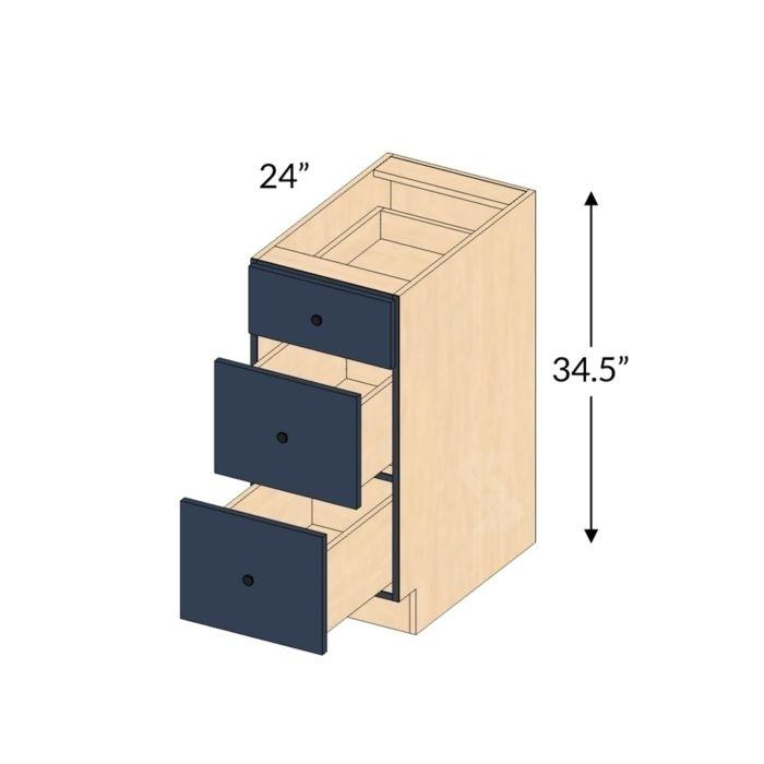 43++ 3 drawer shaker cabinet inspiration
