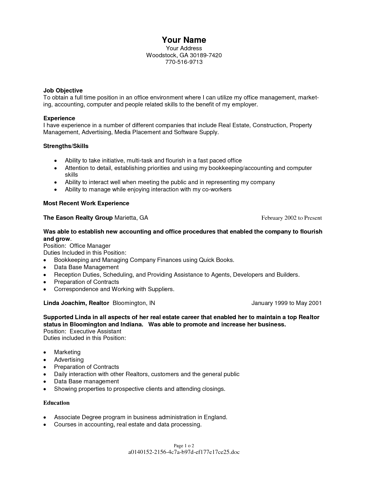 Best Resume Format For Experienced Professionals Receptionist
