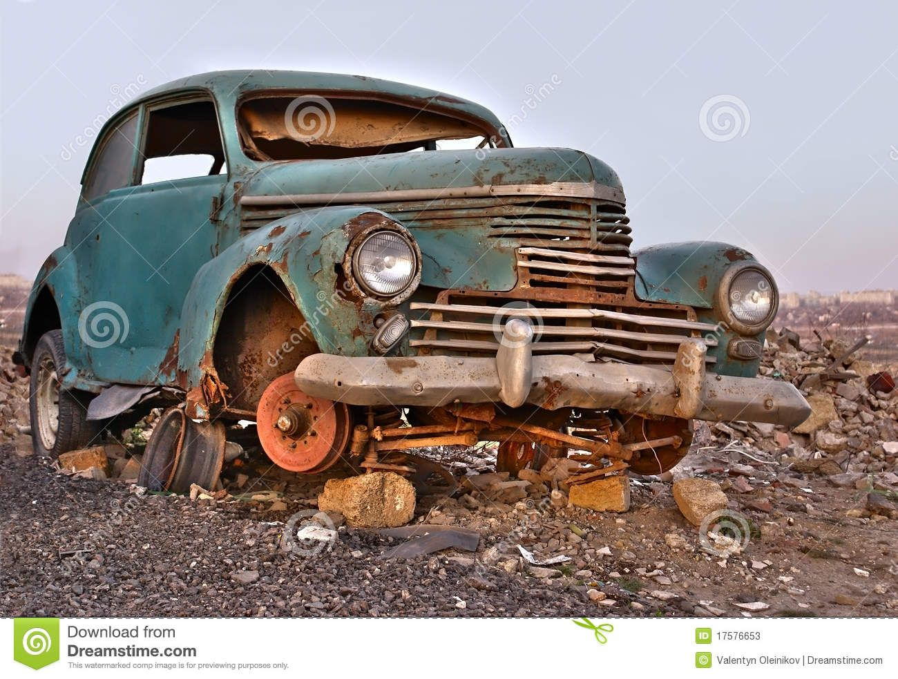 Old Broken Rusty Abandoned Car - Download From Over 43 Million High ...