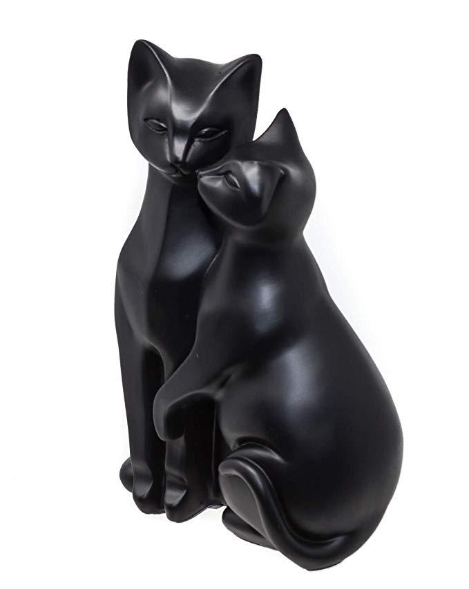 Mr Mrs Cat Ornament Pair Of Black Cats Stylized Cat Figurine