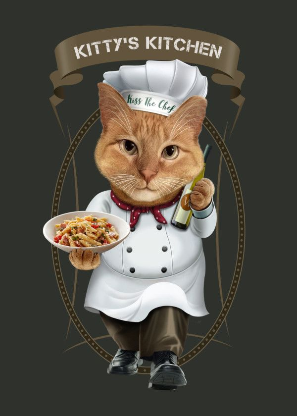 'KITTY'S KITCHEN' Metal Poster Print - Adam Lawles