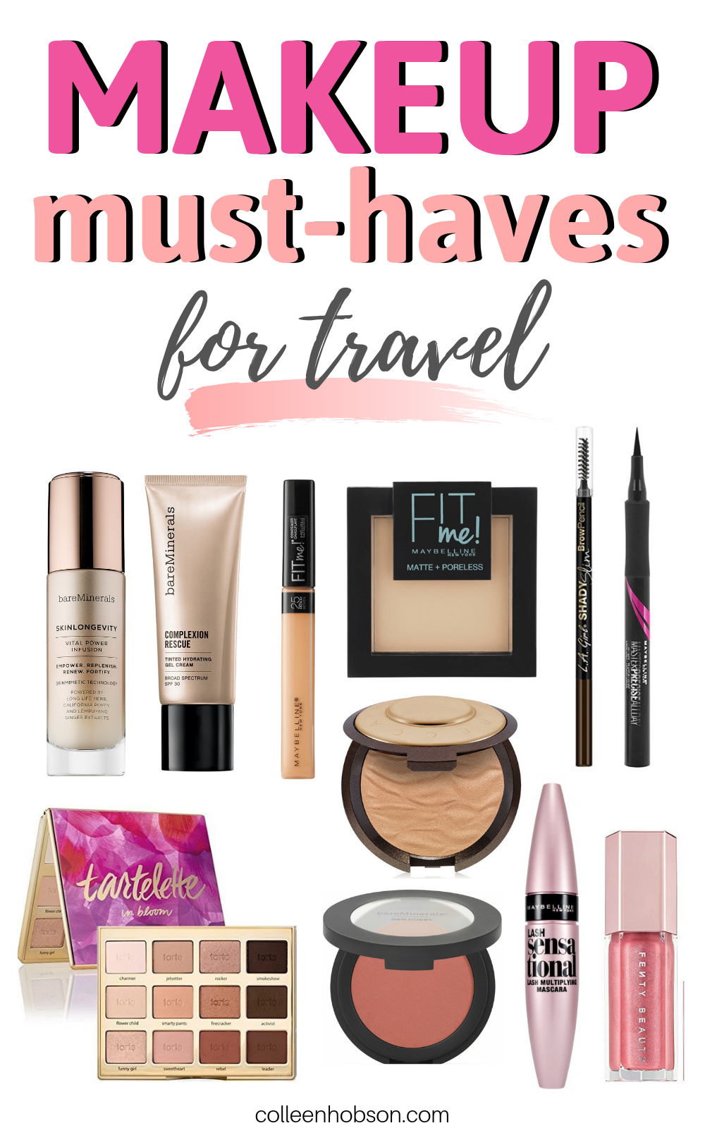 Makeup Must Haves For Travel Makeup must haves, Makeup