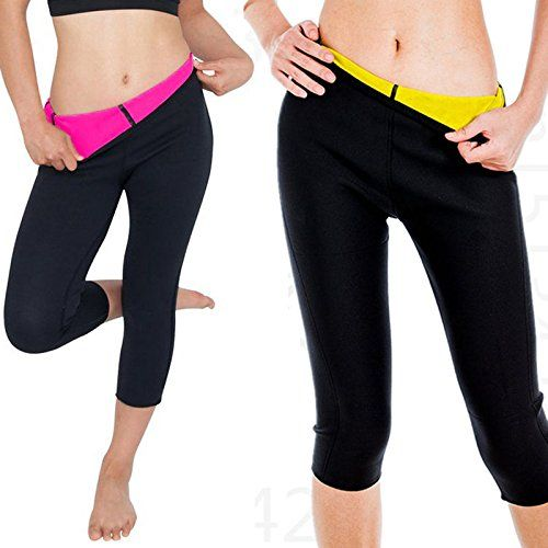 62bf6f4ea0 CROSS1946 Womens Slimming Thermo Capris Pants Sauna Hot Sweat Body Shaper  Control Small Rose M     Learn more by visiting the image link.
