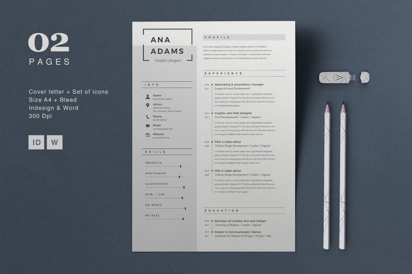 20 Beautiful Free Resume Templates For Designers Business