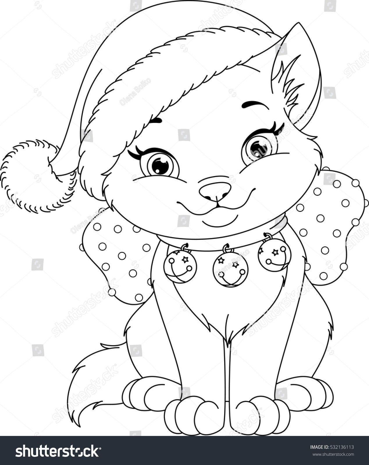 Christmas Cat Coloring Page Through The Thousand Pictures Online Regarding Chr Printable Christmas Coloring Pages Cat Coloring Book Christmas Coloring Sheets