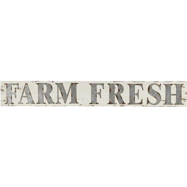 Pier 1 Imports White Farm Fresh Wall Decor ($30) ❤ liked on ...