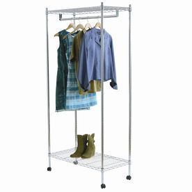 Style Selections Chrome Steel Garment Rack-lowes $63 @lowes cover is