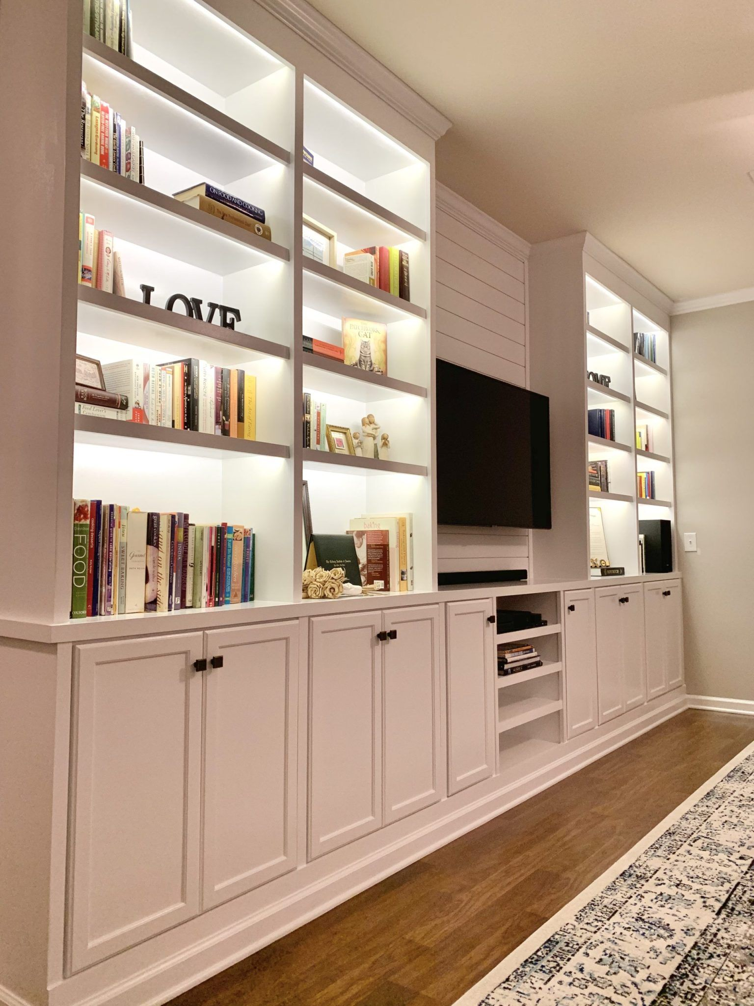 Photo of DIY Living Room Built-Ins from Prefab Cabinets – Dream It. Build It. Love It.