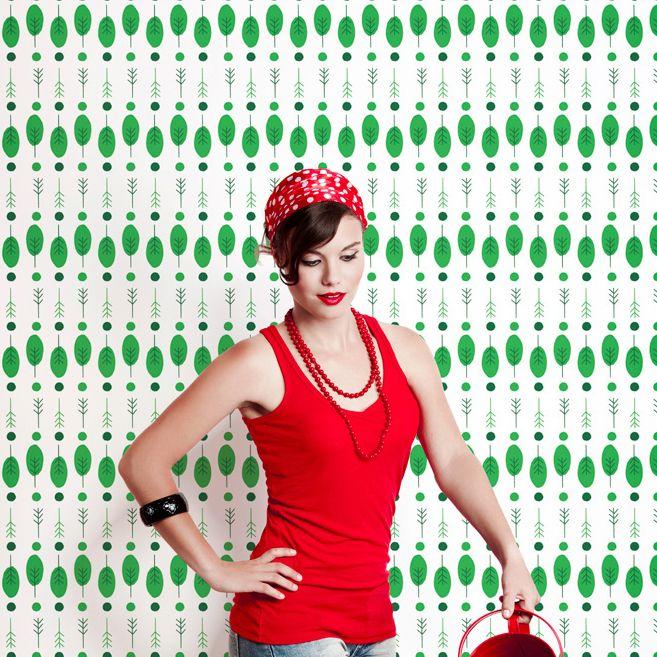Wallpaper Republic Arbol Wallpaper, available at #polkadotpeacock. #peacocklove #wallpaperrepublic