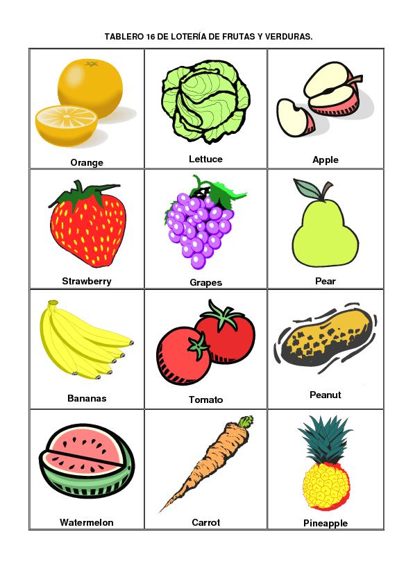 Resultado de imagen para rompecabezas con frutas y hortalizas