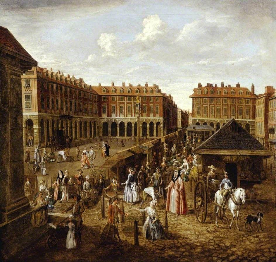 Covent Garden Piazza and Market, London by Joseph van Aken