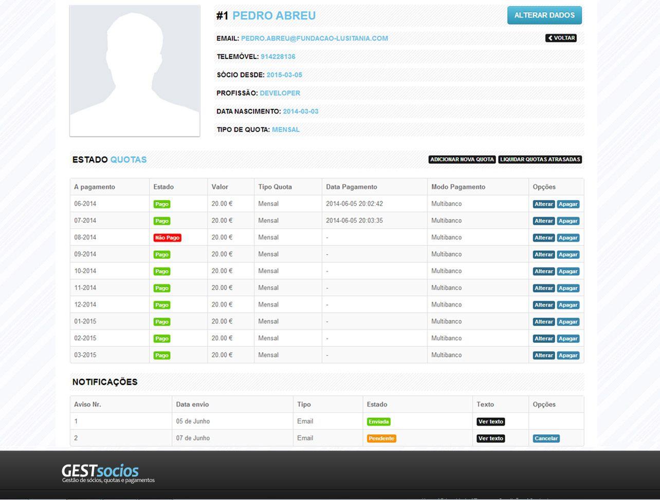 GestSócios - Software de gestão de associados e quotas