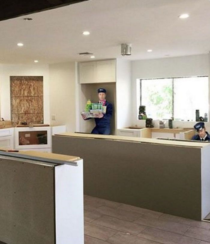 A big, modern kitchen renovation like Gail's is a good fit for some modern dependability.