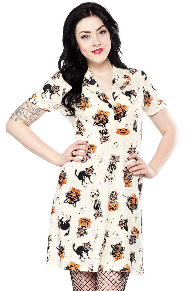 73f9691241 SOURPUSS BLACK CATS ROSIE DRESS  52.00  sourpuss  sourpussclothing  dress   halloween  blackcats