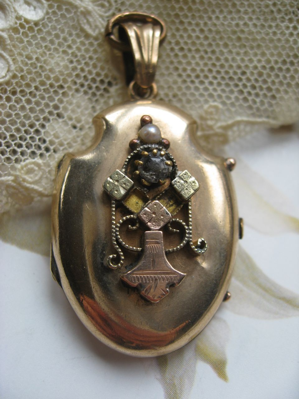 3769041724c21e Victorian Locket in Gold Fill | Victorian Secret Keeper | Gold ...
