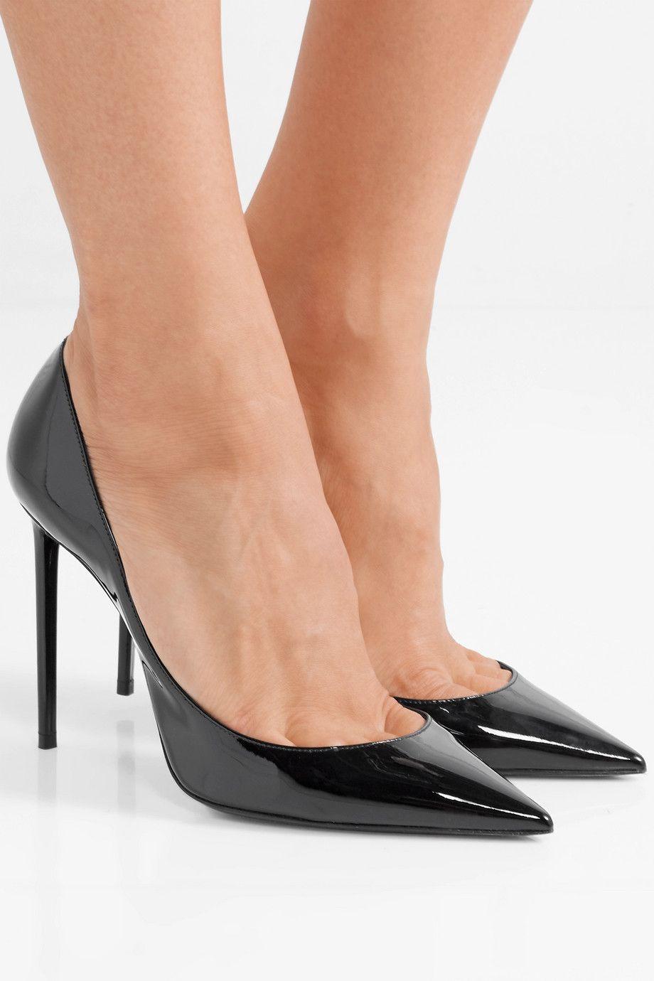 SAINT LAURENT Zoe patent leather pumps in 2020 | Patent