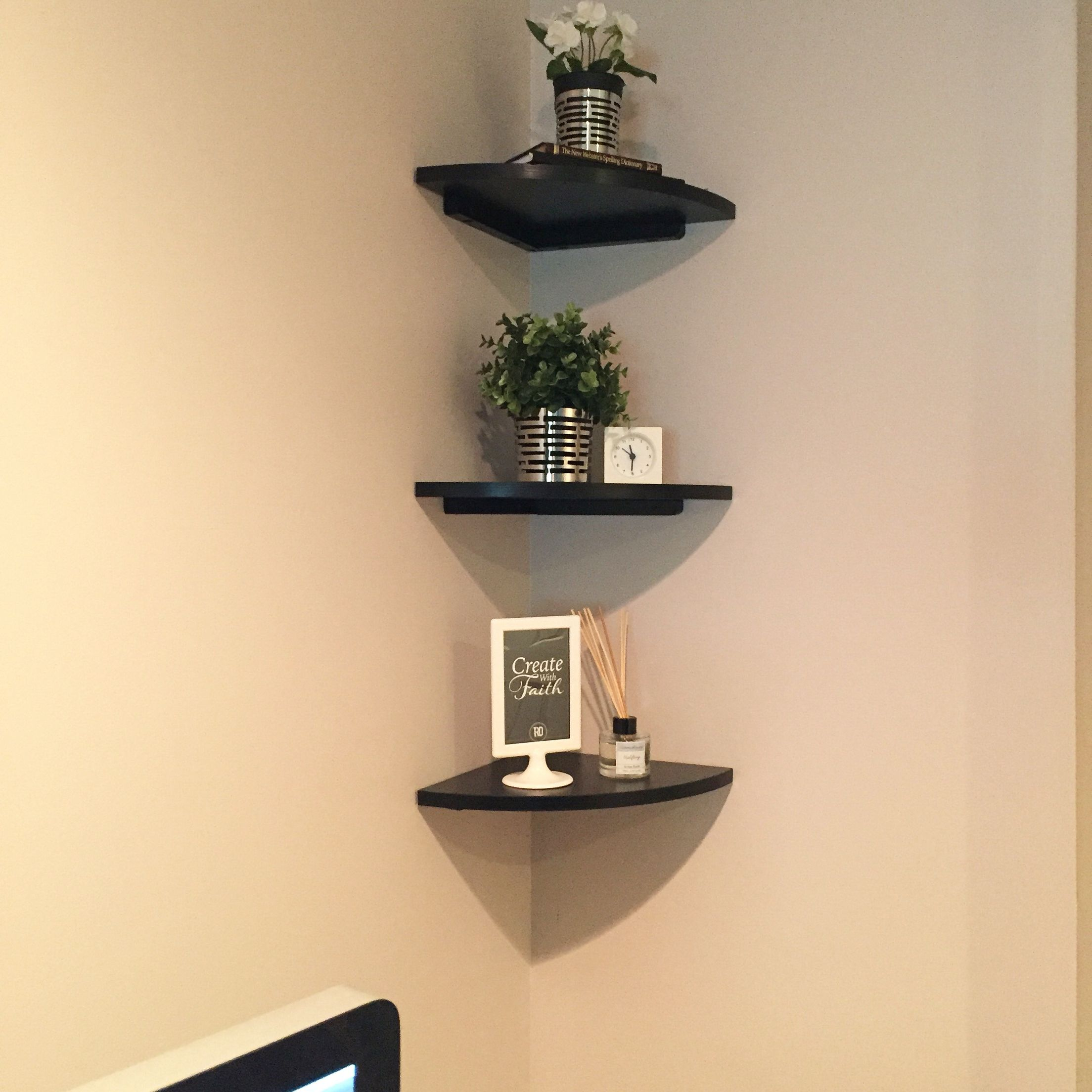 Corner Wall Office Decor Under $50 Shelves From Bed Bath