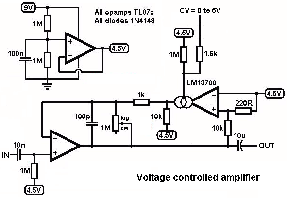 lm13700 vca - Google Search | Synthesizers | Electronics