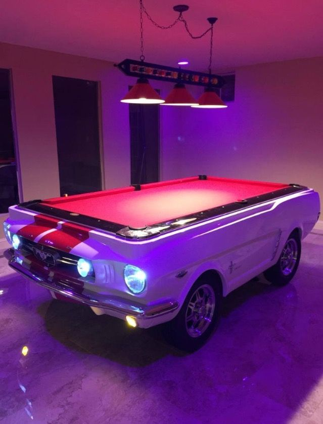 Ford Mustang Shelby Car Pool Table At CarFurniturecom Car - Mustang pool table