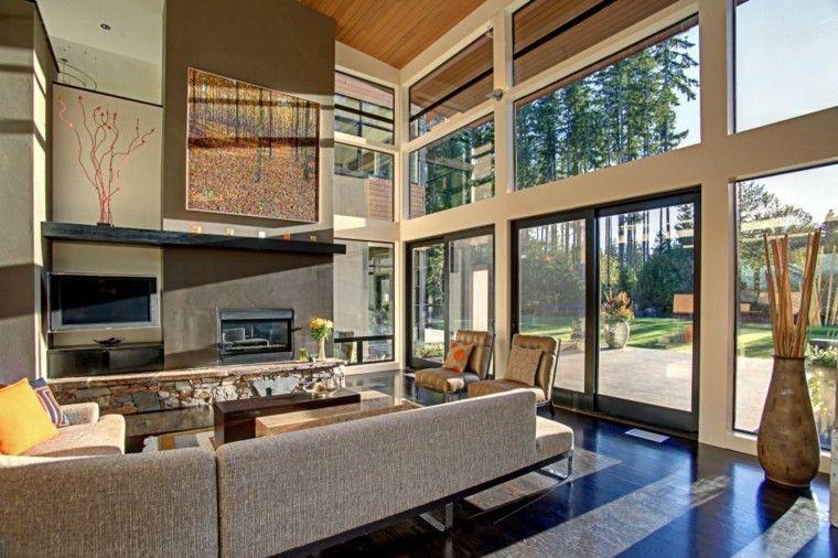 Interiores de casas modernas 25 estupendas ideas casa for Interiores de casas modernas de una planta