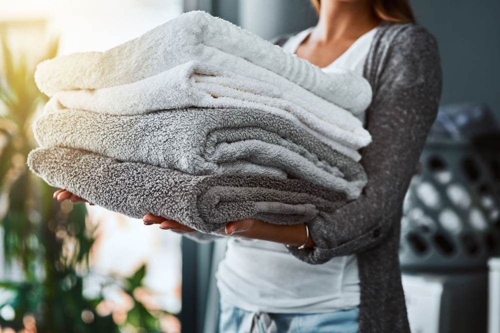 How To Keep Towels Soft And Fluffy Laundry Booster Best Bath