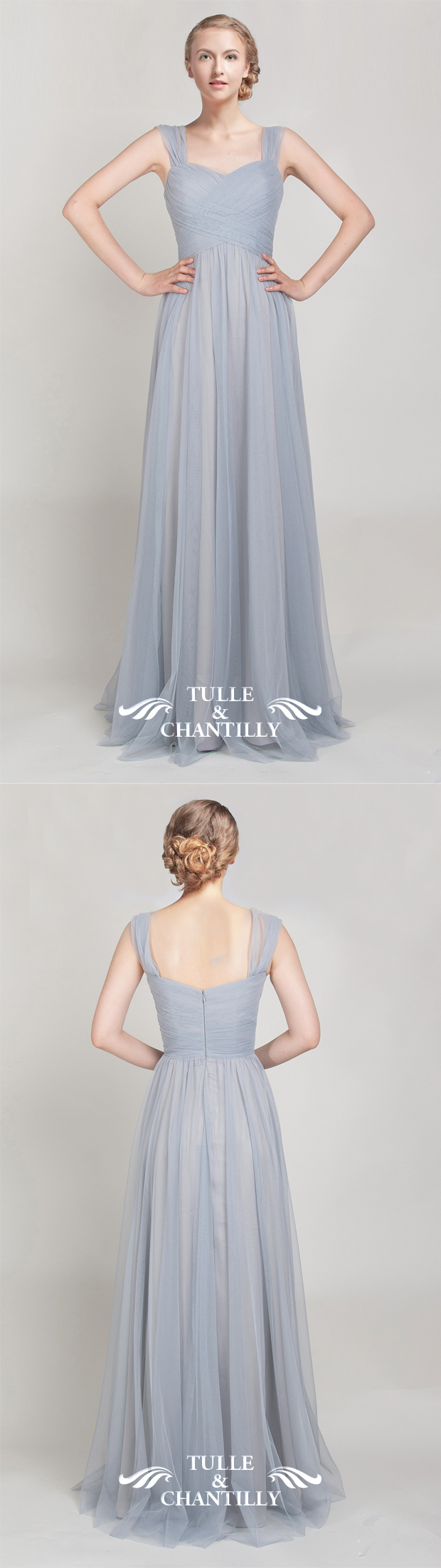 Long off shoulder tulle bridesmaid dress tbqp328 tulle lights long off shoulder tulle bridesmaid dress tbqp328 ombrellifo Gallery