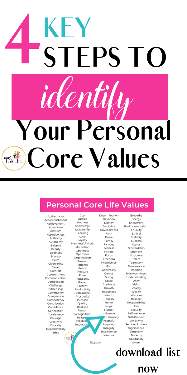 How to Define Your Personal Core Values ( 4 Key Steps) - #lifegoals